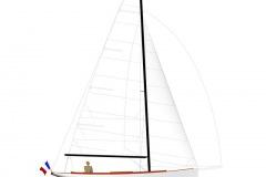 Arcachon 26 marconi, plan de voilure